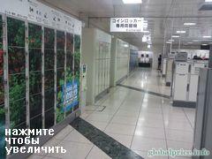 вокзал Токио, Япония, Платные шкафы в камере хранения